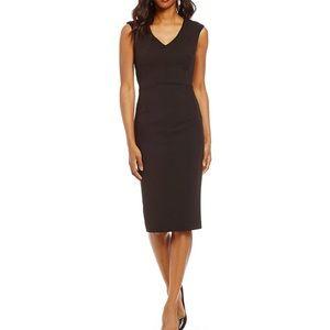 Navy Ivanka Trump Scuba Crepe Sheath Dress size 14